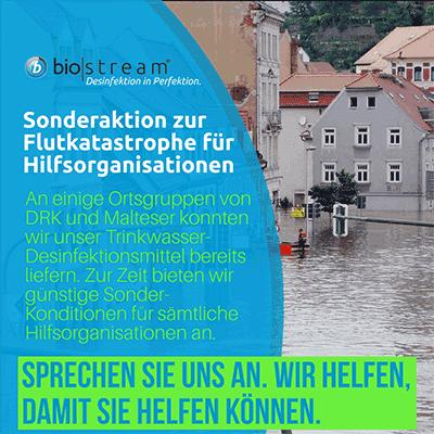 Trinkwasserdesinfektion in Katastrophenfällen